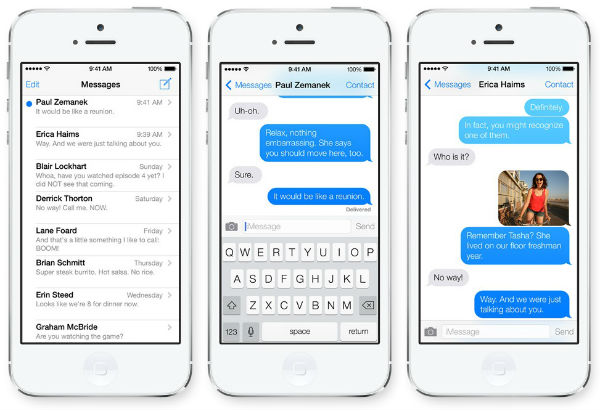 iOS 7 imessage hatası